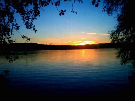 Auchenheglish Lodges:                   loch Lomond sunrise from Heron lodge