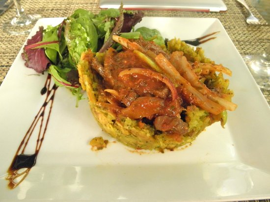 Hotel El Convento:                                     Beef Mofongo recommended by Carolina