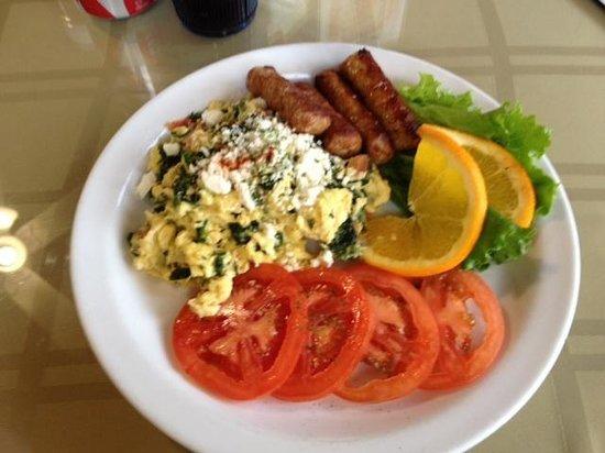 J C's Patio Cafe:                                     Greek scramble