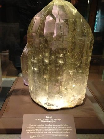 Smithsonian National Museum of Natural History:                                     big topaz