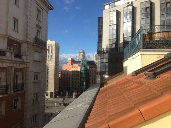 Hotel Preciados:                                     view from the balcony -  Loft / superier rooms are located o