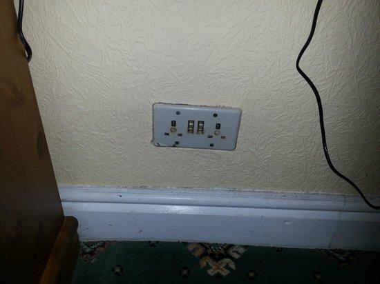 The Derwentwater Hotel:                                     Under the desk in bedroom