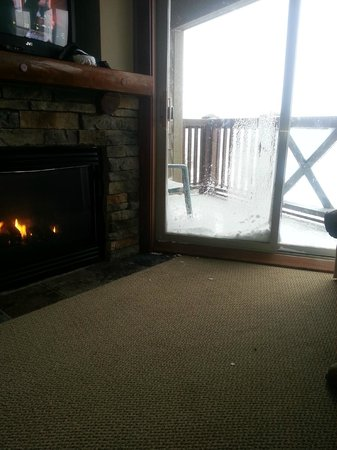 Rimfire Lodge Condos :                                     fireplace