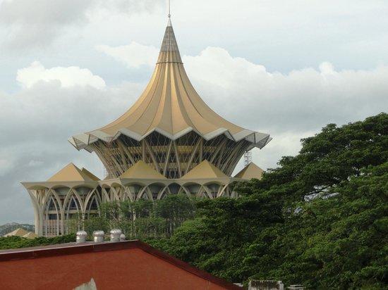 Singgahsana Lodge :                   View from rooftop bar