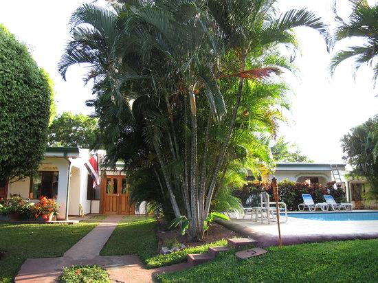 Hotel La Rosa de America:                   Reception and pool area