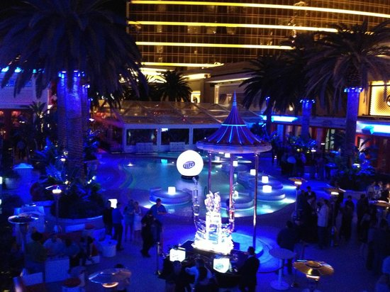 Encore Beach Club View Of The Pool At Night