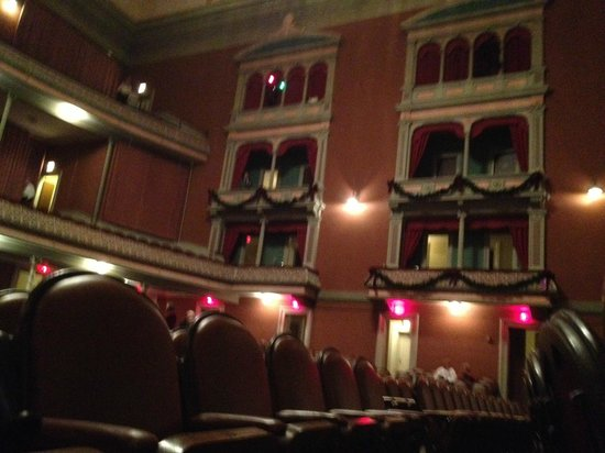 Troy Savings Bank Music Hall: Private boxes on each side of the concert hall