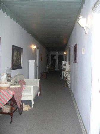 Thomas House:                   hallway with famous #37 room Sarahs room