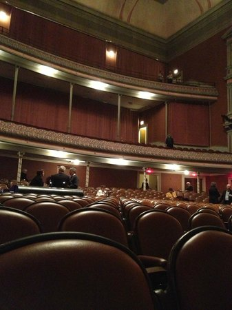 Troy Savings Bank Music Hall: Looking back from near the stage at the concert hall