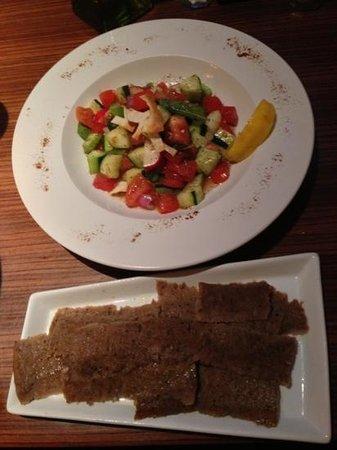 Terra Mediterranean:                   Mediterranean salad with Cyro
