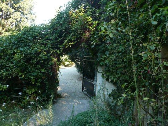 Mas D'Arvieux: entrance to Pigeonnier garden