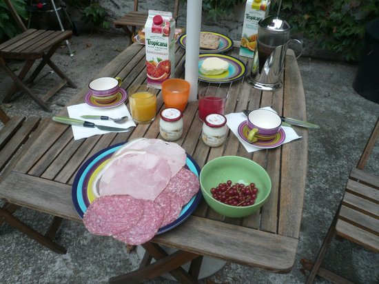 Mas D'Arvieux : our self-catering breakfast