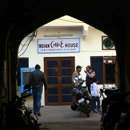 Indian Coffee House - Entrance as seen from the MI Road