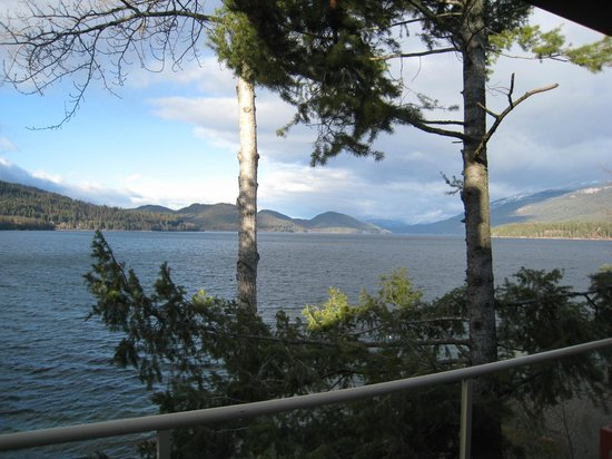 Bay Point on the Lake :                   Awesome view from sliding glass door/deck of Whitefish Lake.