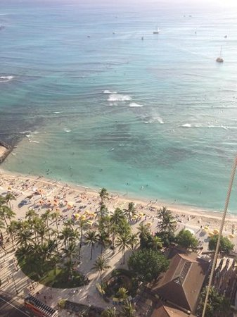 Hyatt Regency Maui Resort and Spa:                   view from room on 31st floor