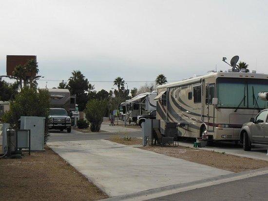 Arizona Charlie's RV Park :                   RV parking pad