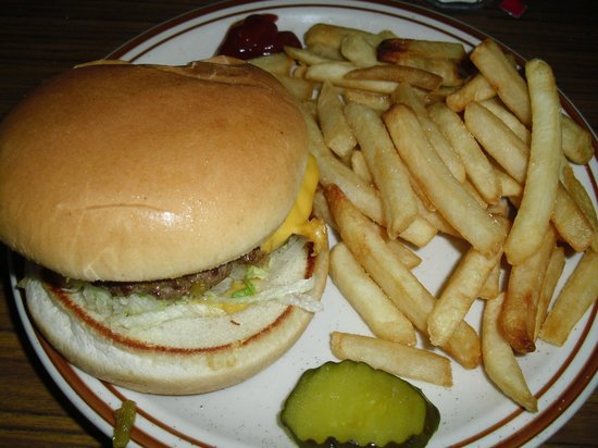 Old Road House:                   Green Chili Cheeseburger & Fries