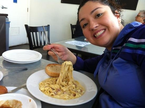 North End Caffe:                   My carbonara!