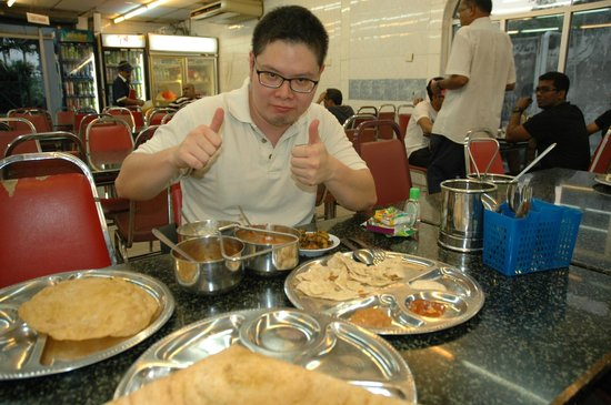 Simply Enak - Food Experiences: Mark ordered great Indian dishes for us to try.