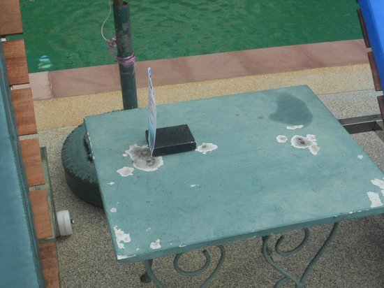 Aonang Ayodhaya Beach Resort:                   Table tops !