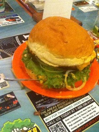 Denny's Beer Barrel Pub:                   3 lbs. burger.