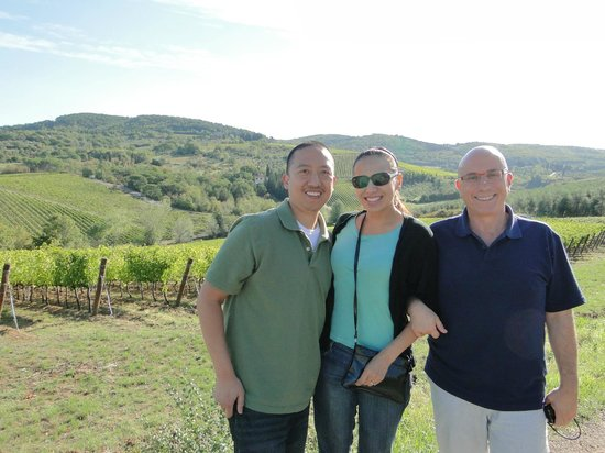Scenic wine tours in Tuscany:                   Sergio stopped at one of the most beautiful views in Chianti region to take th