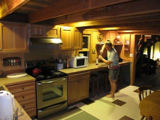 Brown's Farm:                   Matt's Cabin kitchen