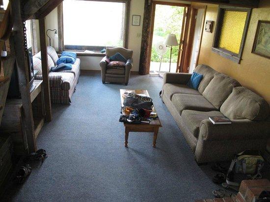 Brown's Farm:                   Matt's Cabin livingroom.