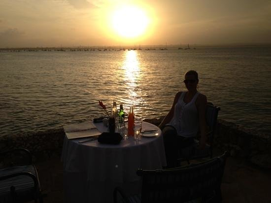 Ngalawa Seafront Restaurant:                   Coral Beach