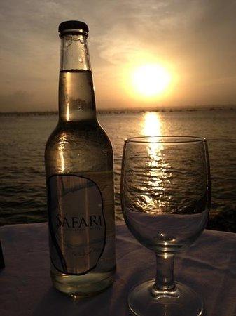 Ngalawa Seafront Restaurant:                   Sunset