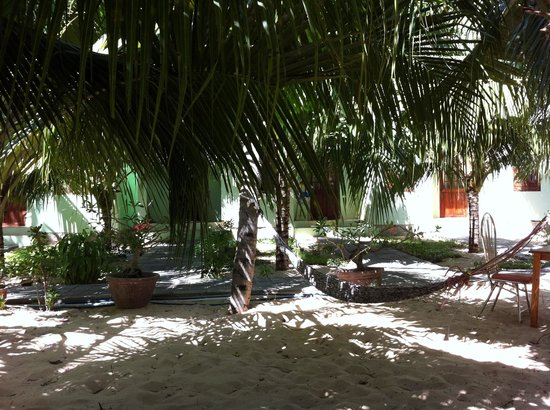 Cocosand Hotel:                   At Cocosand: under the palms, facing the rooms