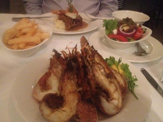 Omeros Bros Seafood Restaurant: dinner 2.2.2013
