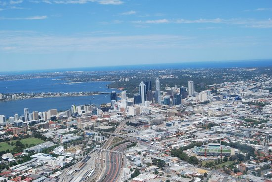 HeliWest Day Tours Perth:                   Perth from the air