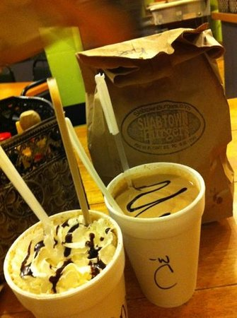 Slabtown Cafe and Burgers:                   shakes and malts and burgers