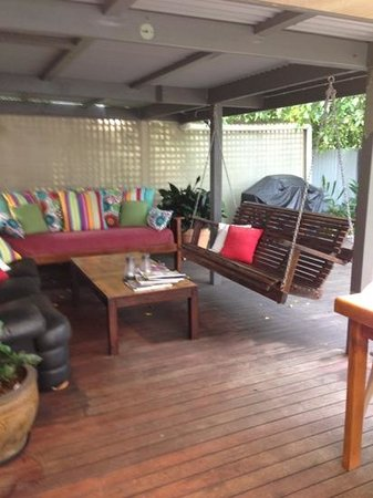 Barbara's Guesthouse:                                     backyard swing!