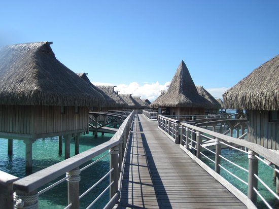 Sofitel Moorea Ia Ora Beach Resort:                   OWB walkway