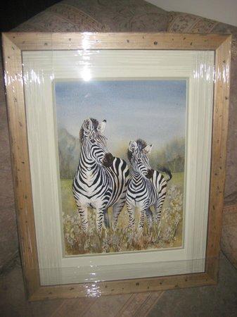 Fynbos Villa Guest House:                   Liz's painting of zebras