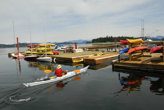 Quadra Island Kayaks - Day Tours: The dock where we start and finish our tours!