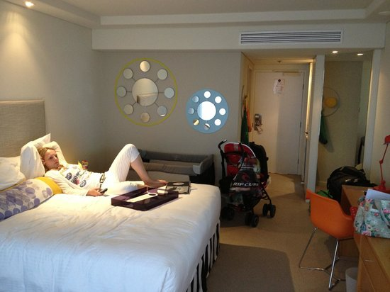 QT Gold Coast:                   We had a standard room but bed was large and really comfy