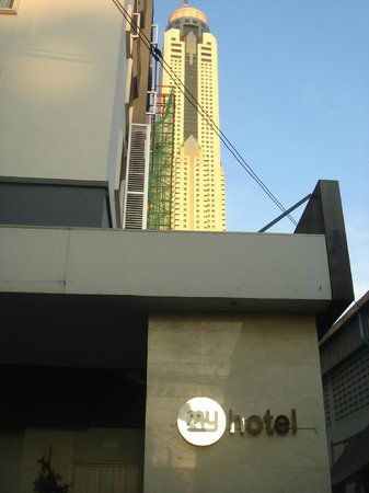 myhotel Pratunam:                                     Baiyoke sky close by
