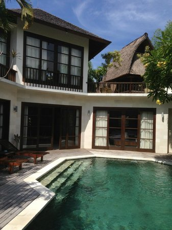 Villa Kubu Seminyak:                   View of villa from pool area