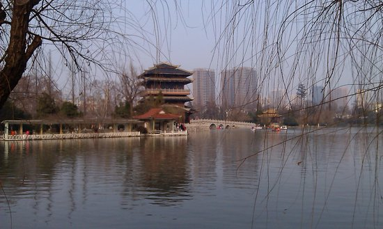 Xiaoyaojin Park: the lake