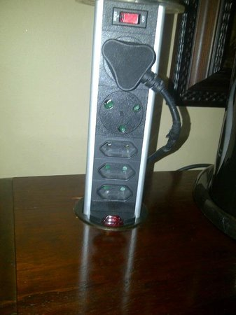 Anta Boga Hotel:                   Plenty of power available on the desk, rare to see so many power sockets in a