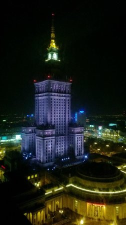 InterContinental Hotel Warsaw:                   View of the Palace of Culture