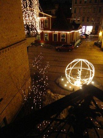 Hotel Bergs:                   вид с балкона