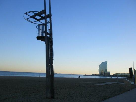Hotel 54 Barceloneta: precioso atardecer en la barceloneta