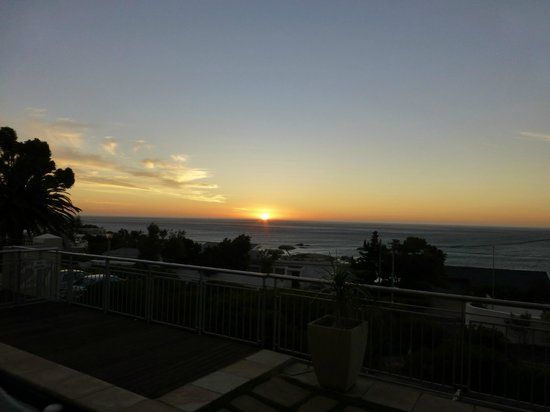 3 On Camps Bay Boutique Hotel:                   sunset from the terrace