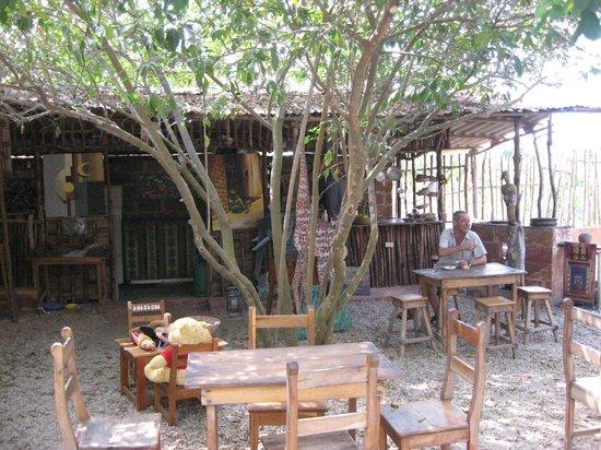 Bar et terrasse picture of le jardin secret ouidah for Le jardin secret livre