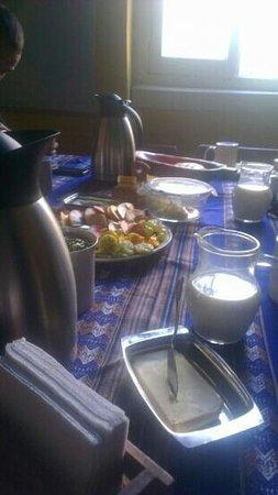 Hostal Casa Aventura :                   desayuno muy rico