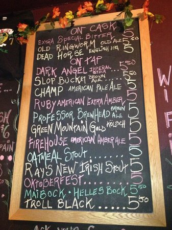McNeill's Brewery and Pub : List of Beers Feb 3 2013